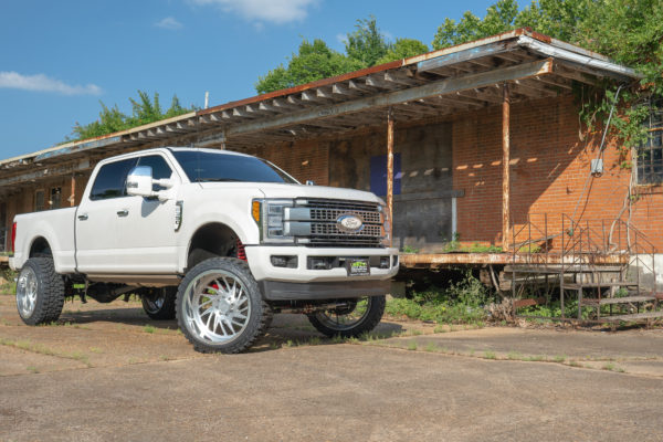 Lifted 2019 F-350 Platinum on JTX Forged 26×14-inch Wheels